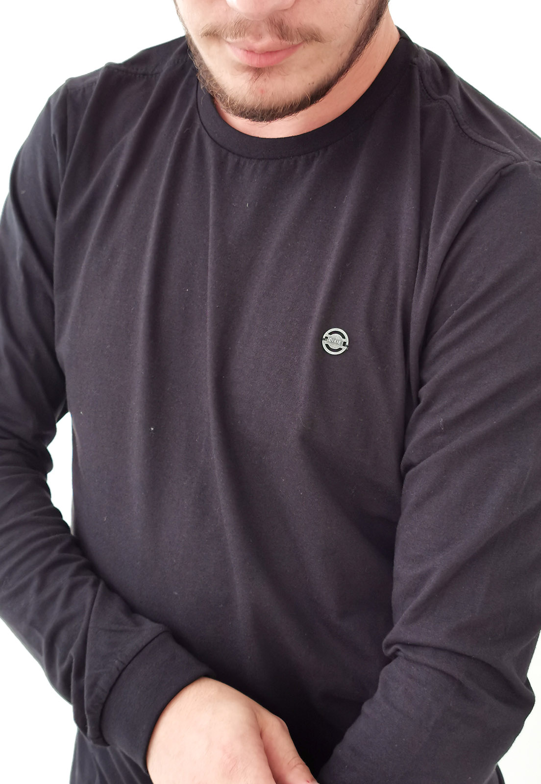 Camiseta Dixie Manga Longa Preto Básica