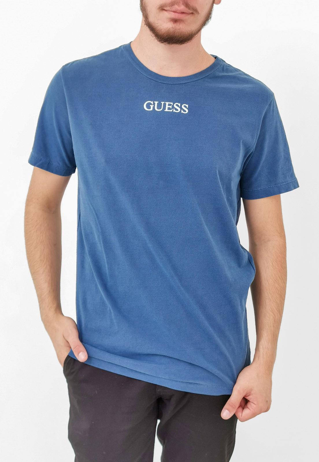 Camiseta Guess Azul Logo