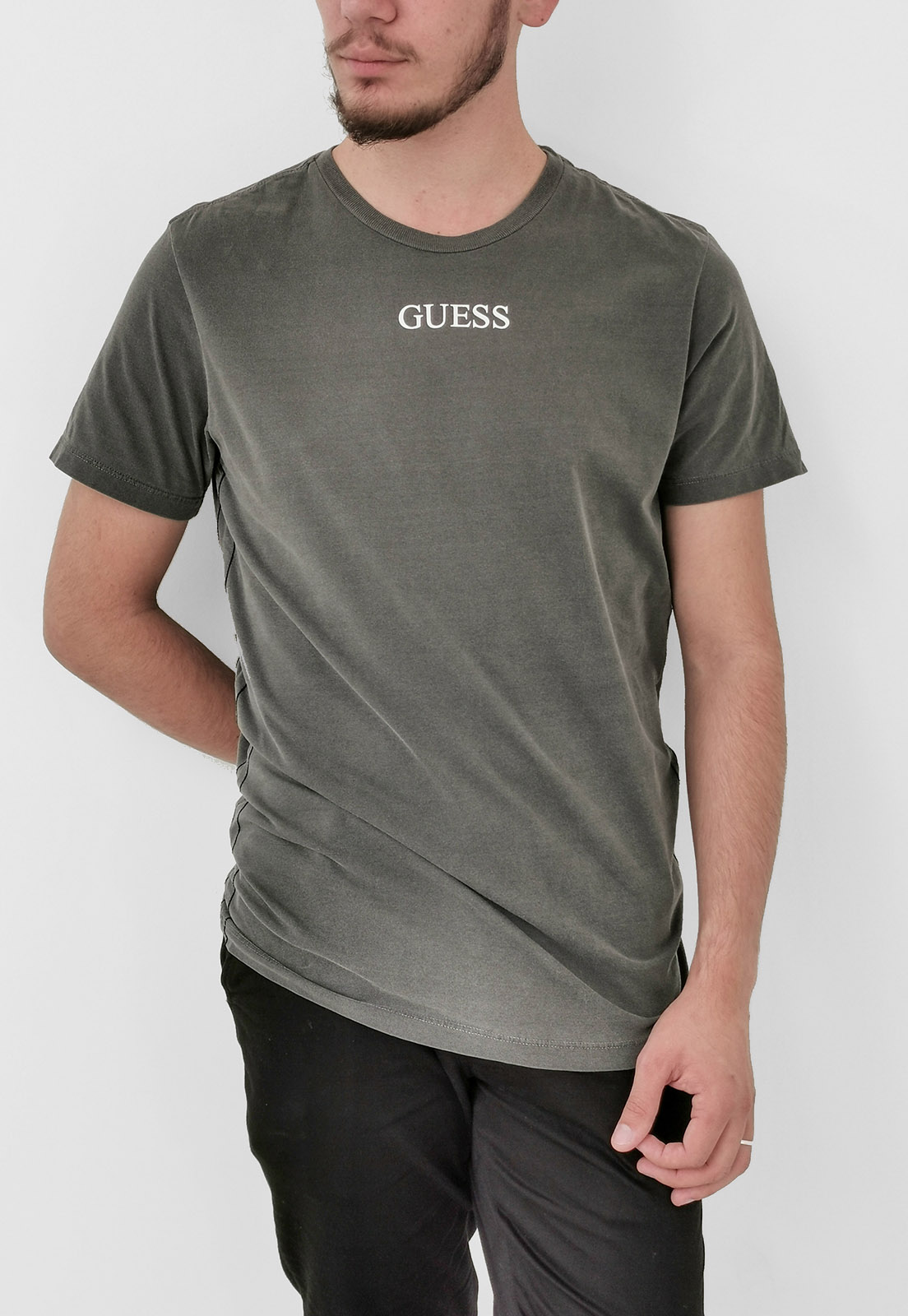 Camiseta Guess Chumbo Logo