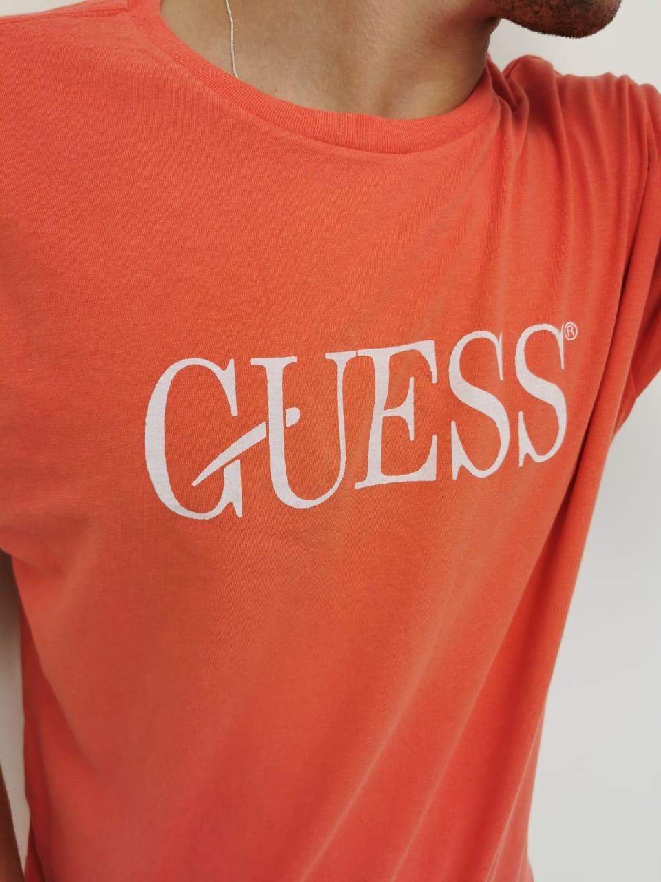 Camiseta Guess Laranja