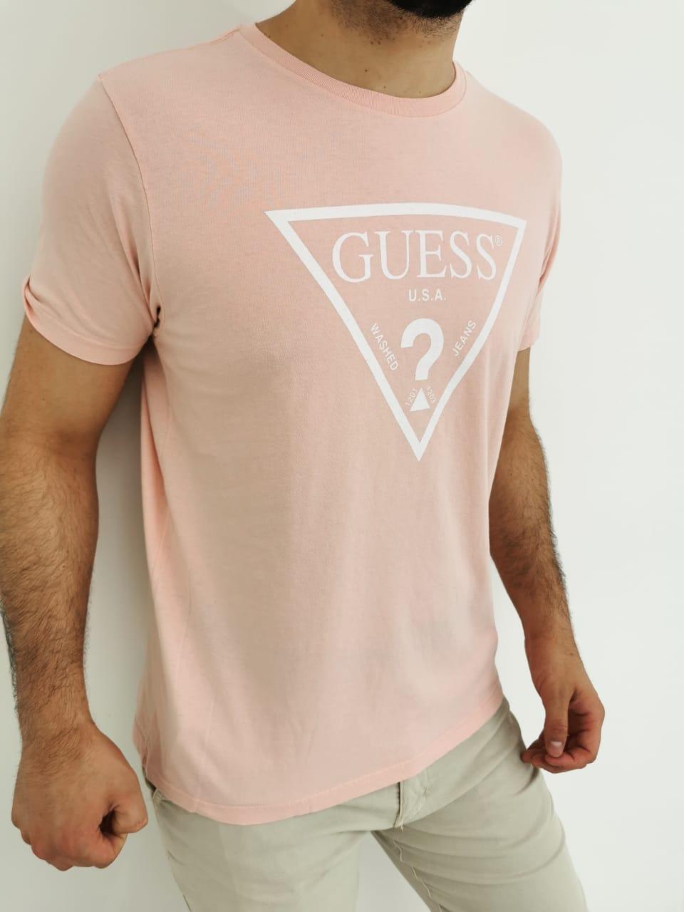 Camiseta Guess Rosa