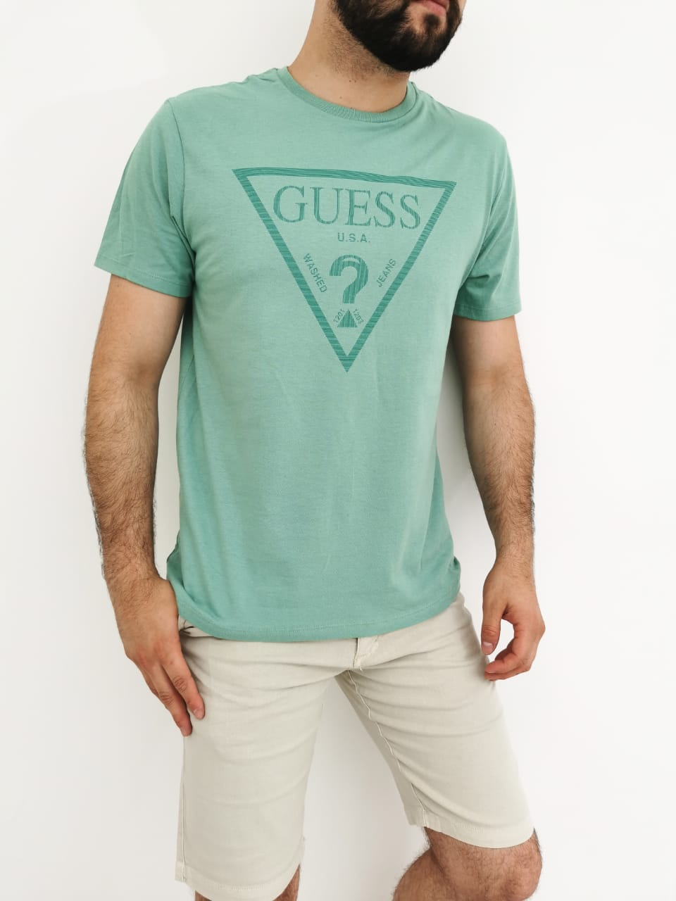 Camiseta Guess Verde
