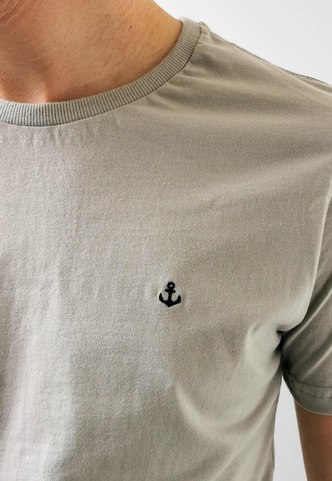 Camiseta King & Joe Cinza Básica Logo