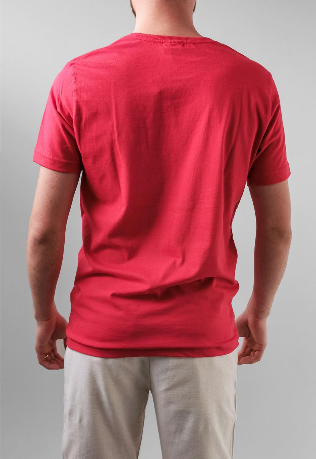 Camiseta King & Joe Vermelho Básica Logo