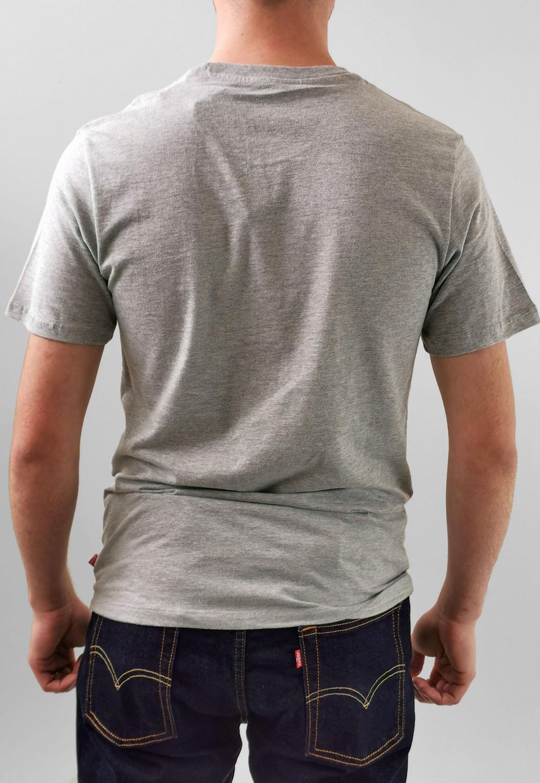 Camiseta Levi's Cinza Mescla Logo