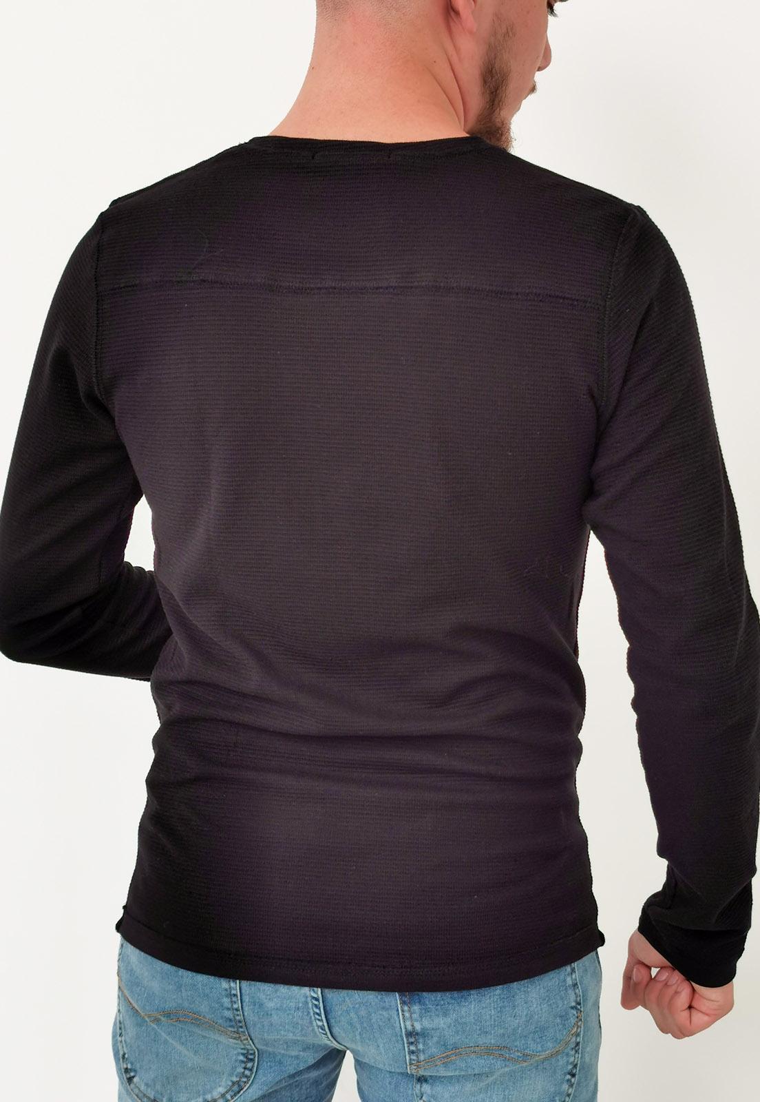 Camiseta Manga Longa Colcci Preto