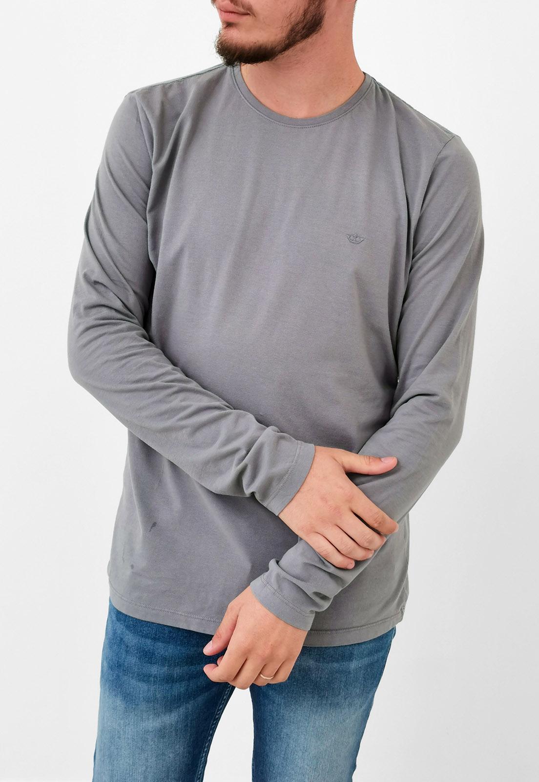Camiseta Manga Longa Docthos Básica Cinza