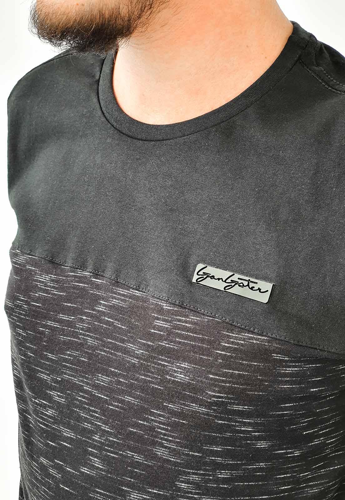 Camiseta Manga Longa Gangster Preto