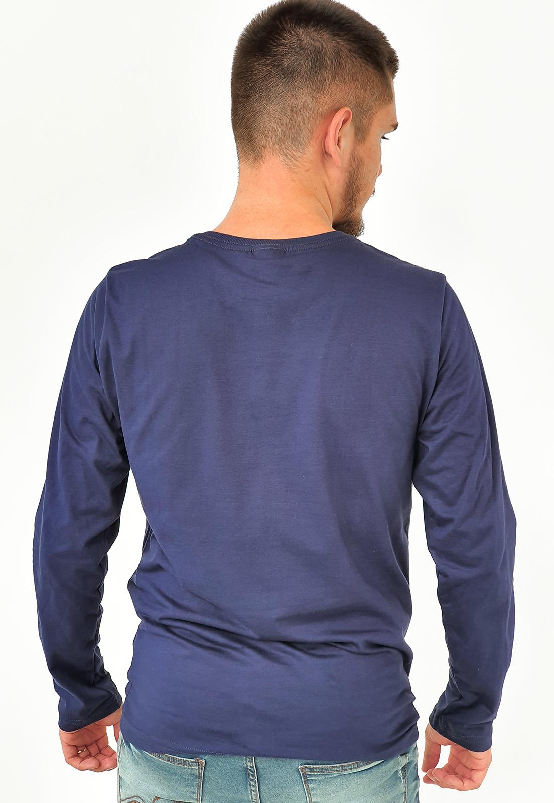 Camiseta Manga Longa King&Joe Básica Azul Marinho