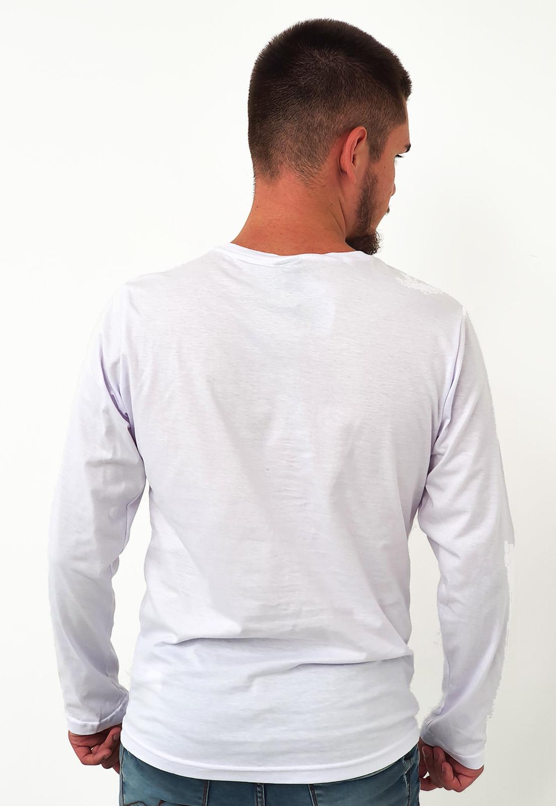 Camiseta Manga Longa King&Joe Básica Branco