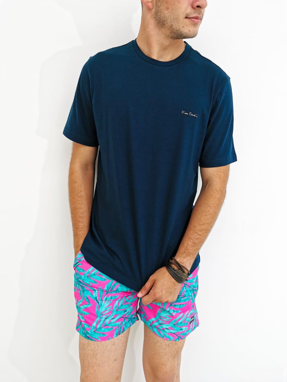 Camiseta Pierre Cardin Azul Marinho