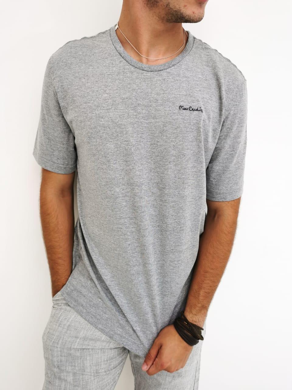 Camiseta Pierre Cardin Cinza Mescla