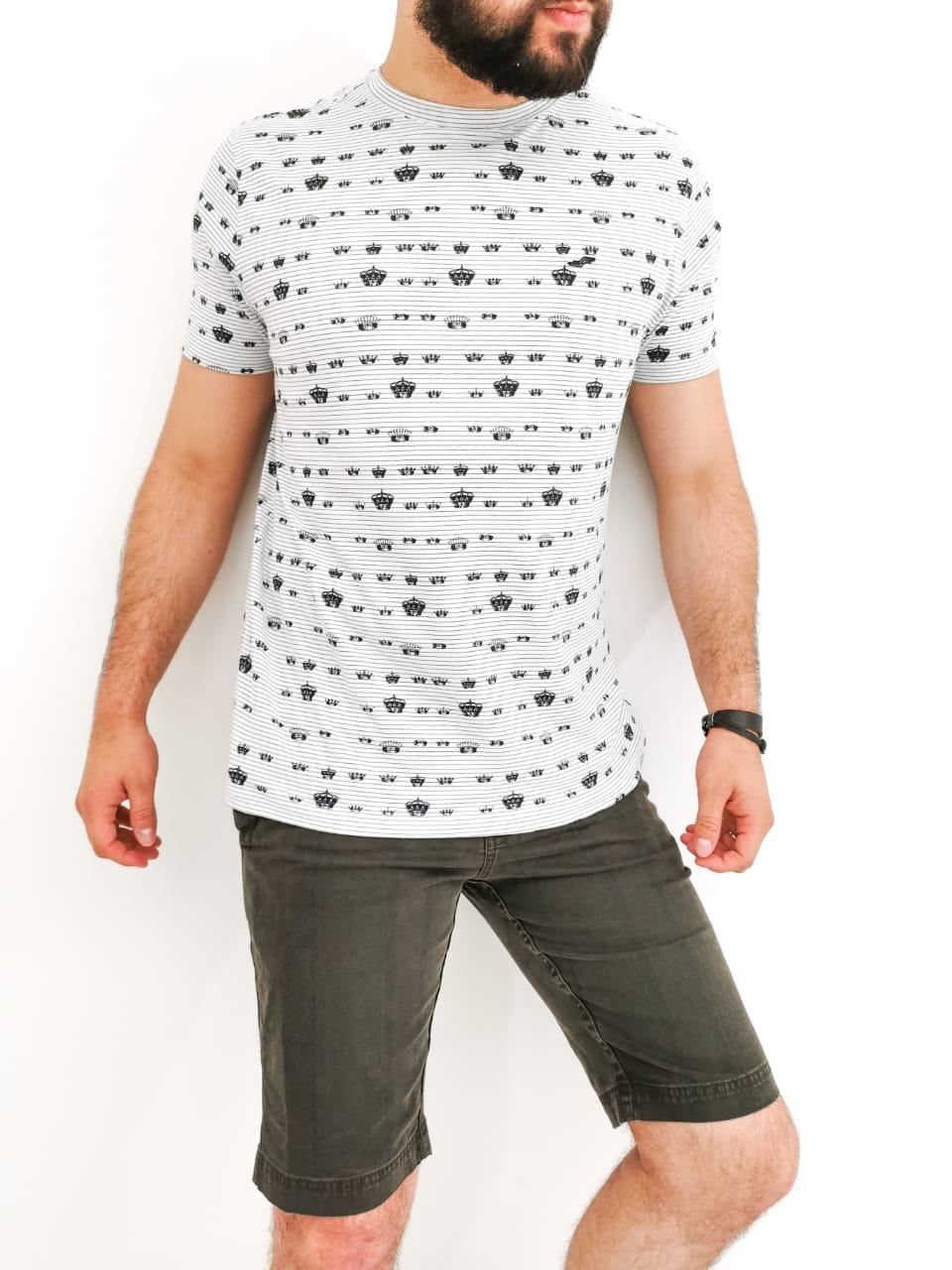 Camiseta Sakapraia Branca Coroa