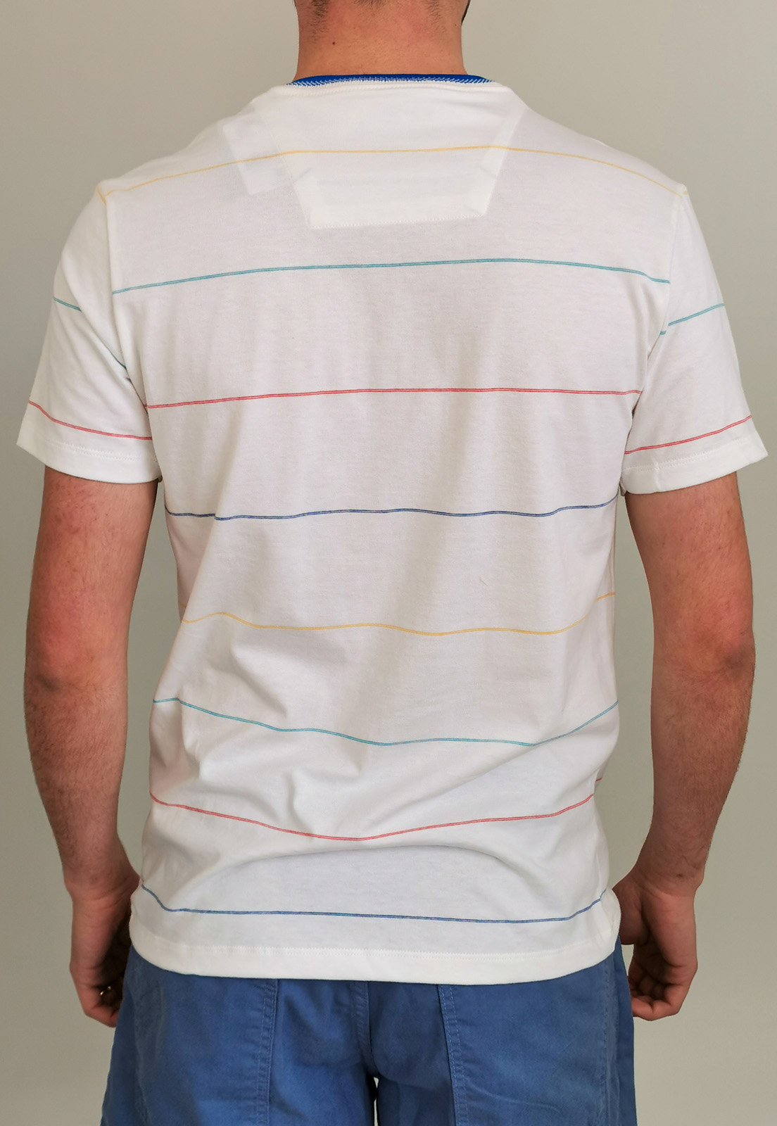 Camiseta Slim Baumgarten Off White Listas