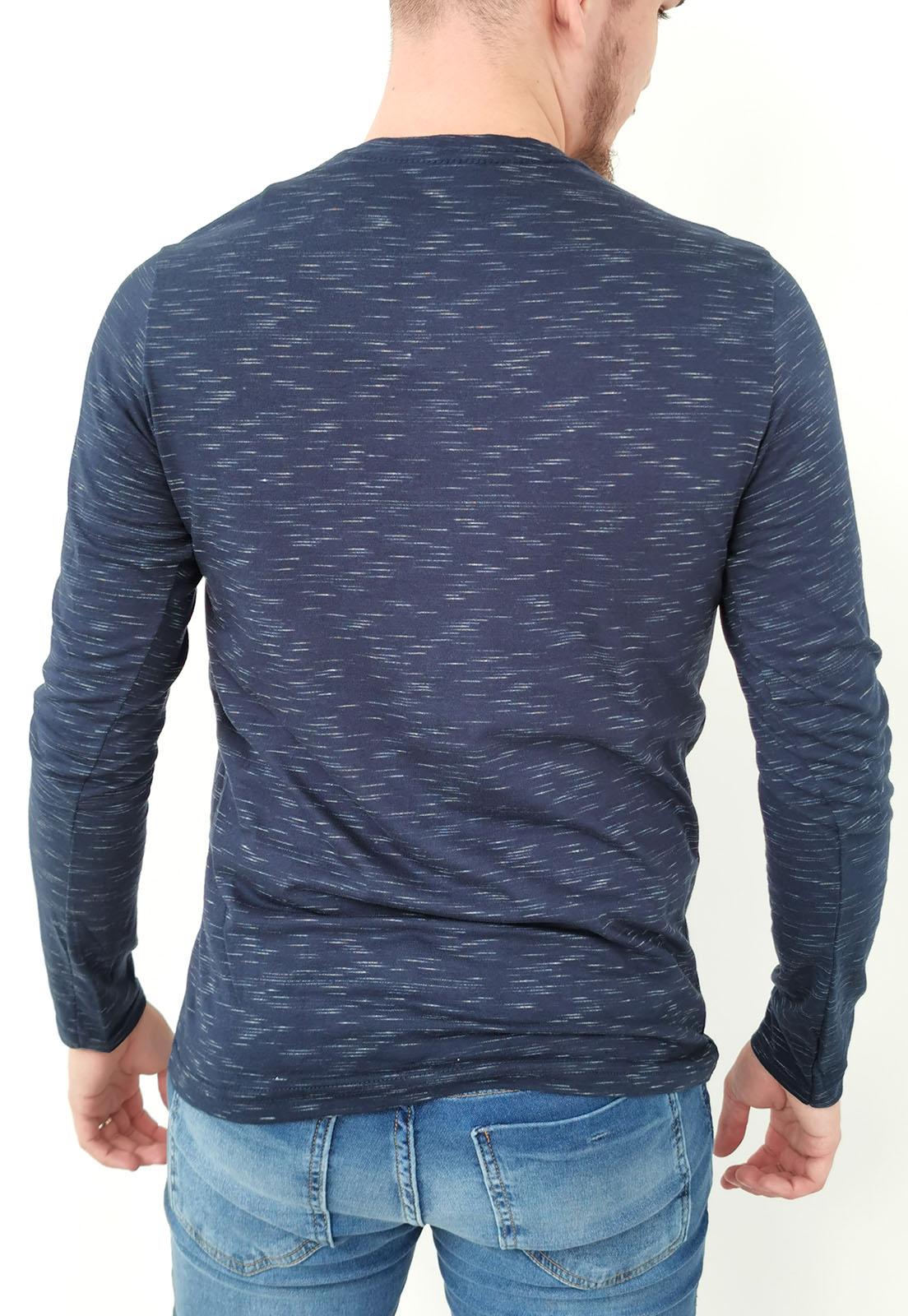 Camiseta Tigs Manga Longa Azul Marinho