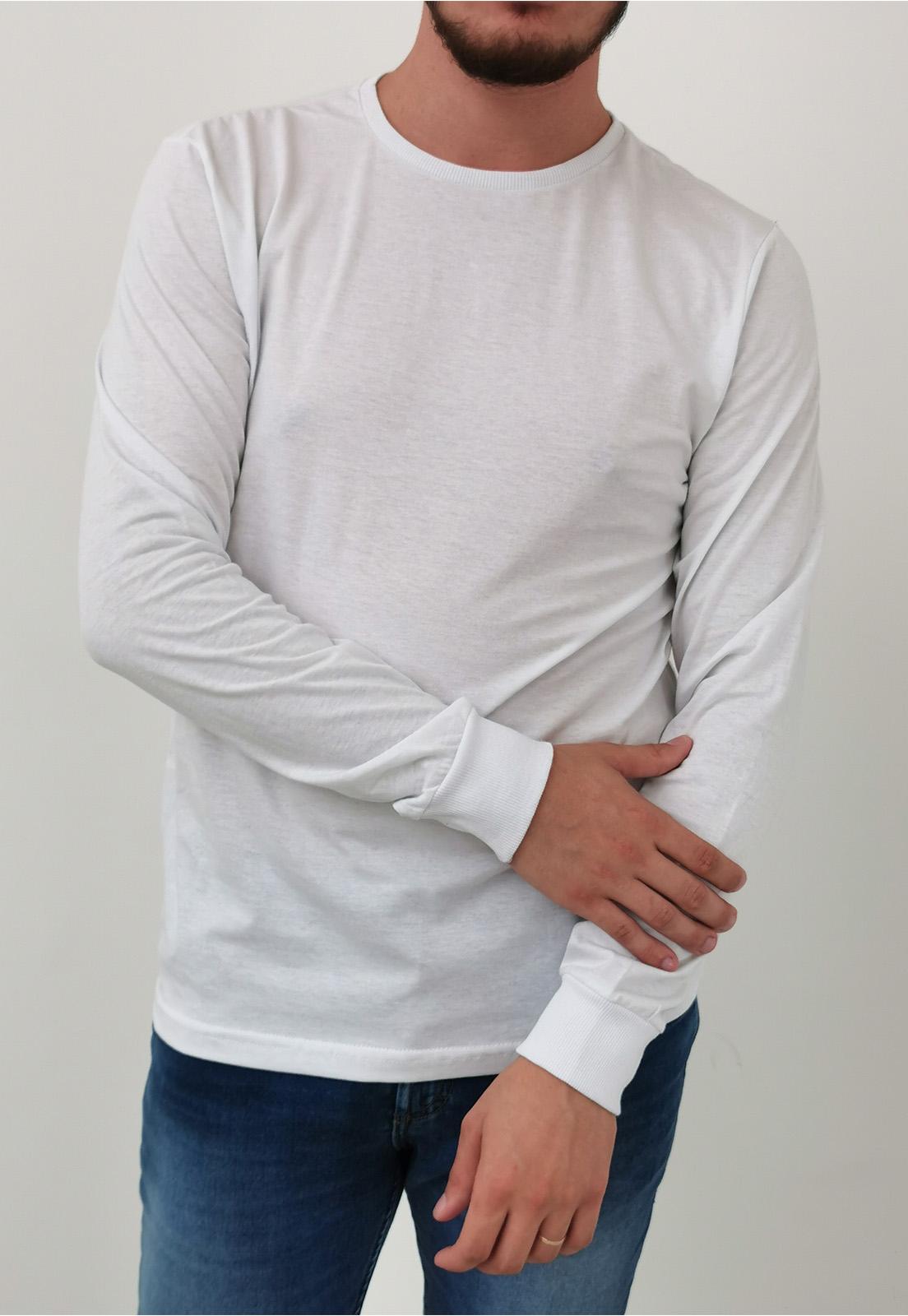 Camiseta Tigs Manga Longa Branco Básica