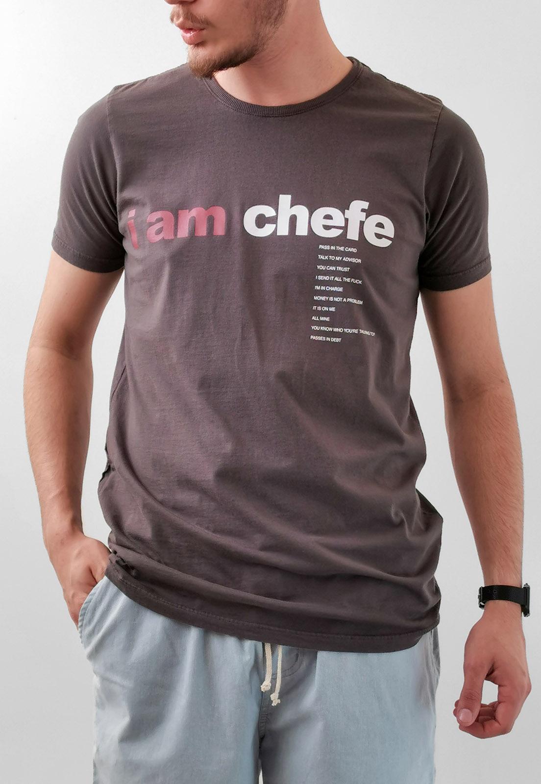 Camiseta Wolke Chumbo I Am Chefe