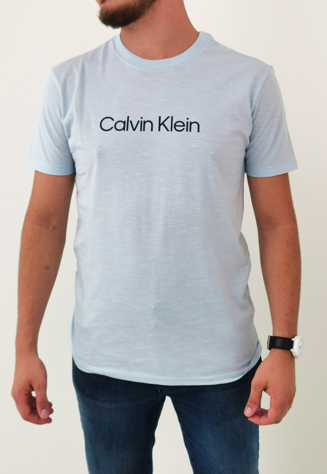 Camiseta Calvin Klein Azul Claro