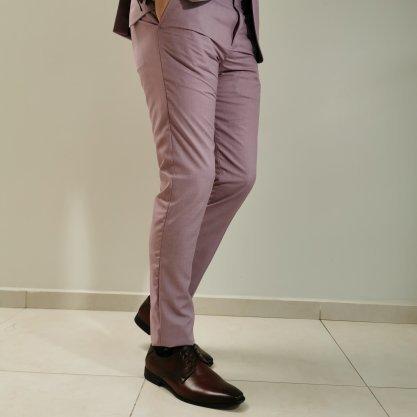 Costume Docthos Slim Rosa com Forro Contrastante