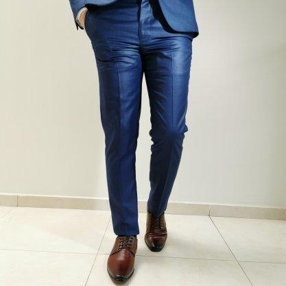 Costume Raffer Cool Slim Azul com Forro Contrastante