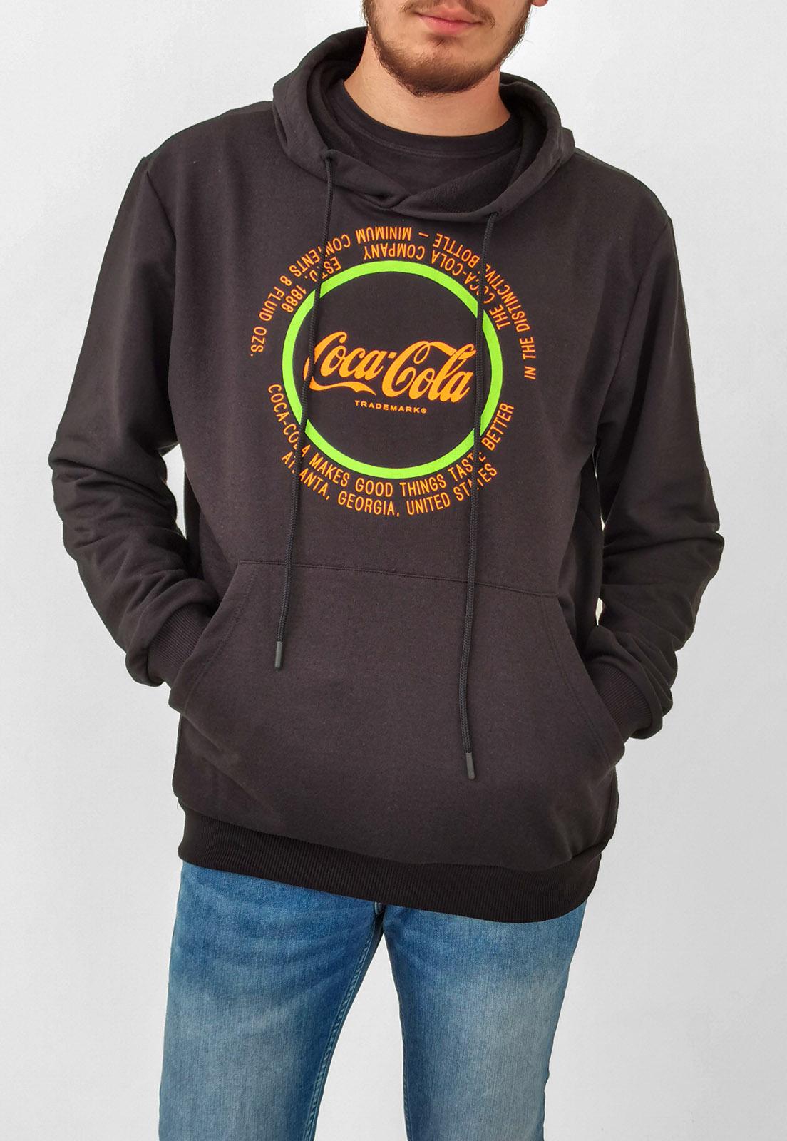 Moletom Coca-Cola Preto Logo