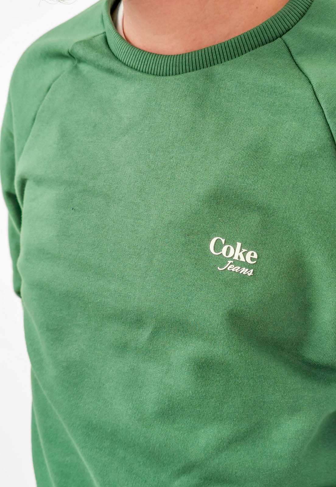 Moletom Coca-Cola Verde Folha Básico Logo