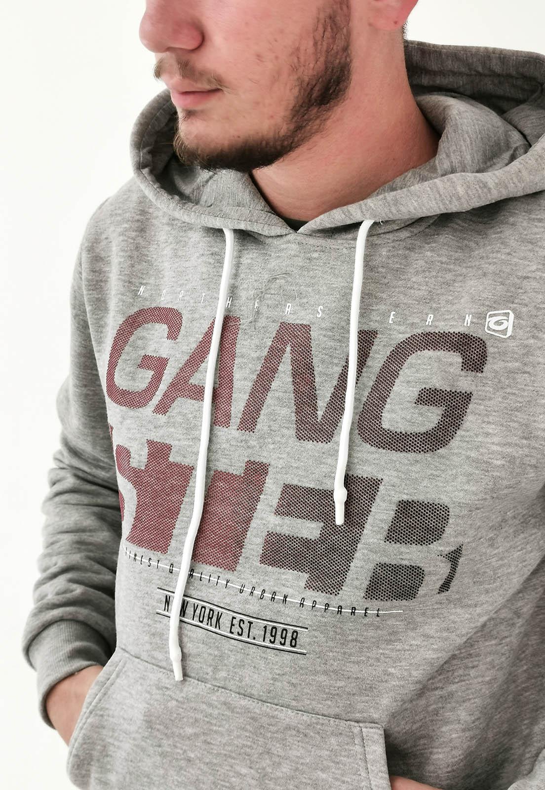 Moletom Gangster Cinza Mescla