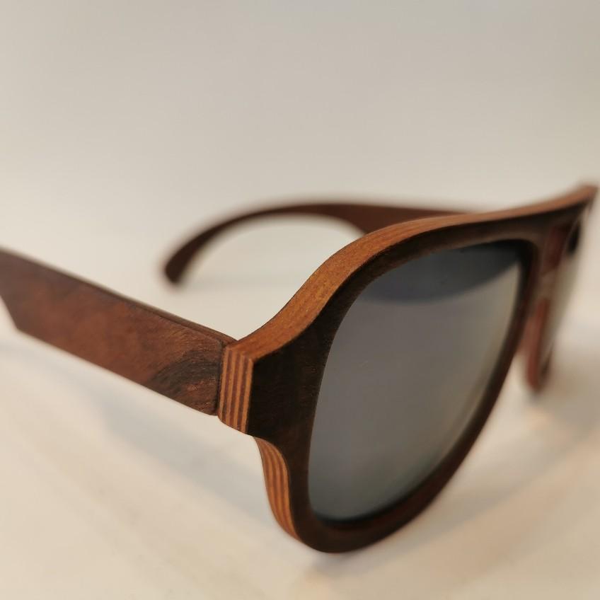 Óculos Brotherwood Aviador Feito a Mão em Madeira