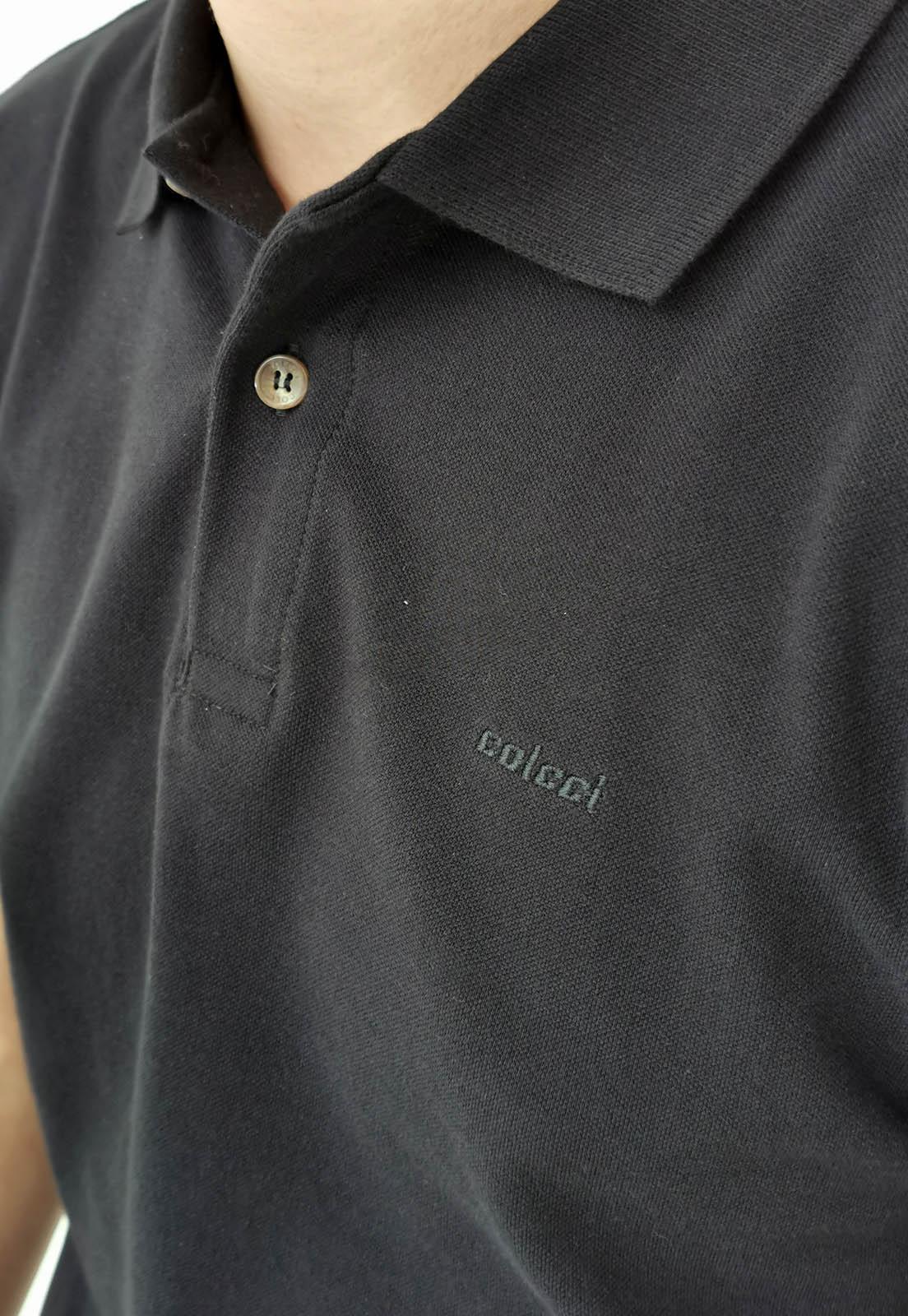 Polo Colcci Básica Preta Logo