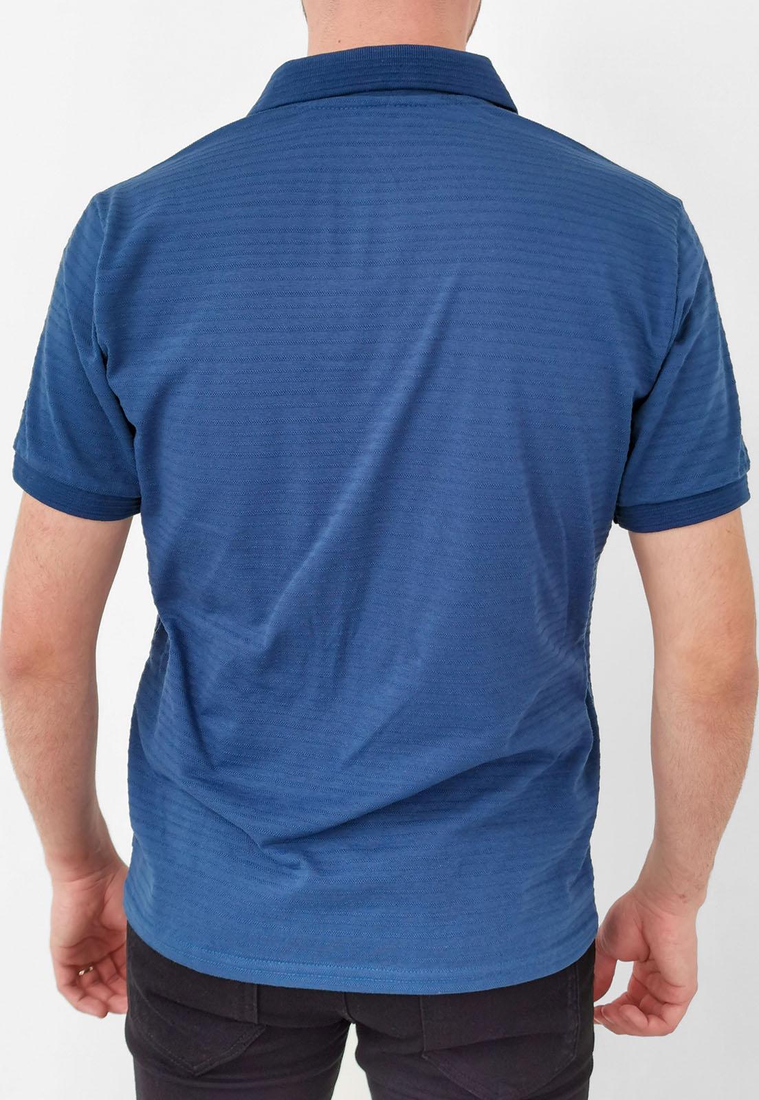 Polo Tigs Azul Maquinetado