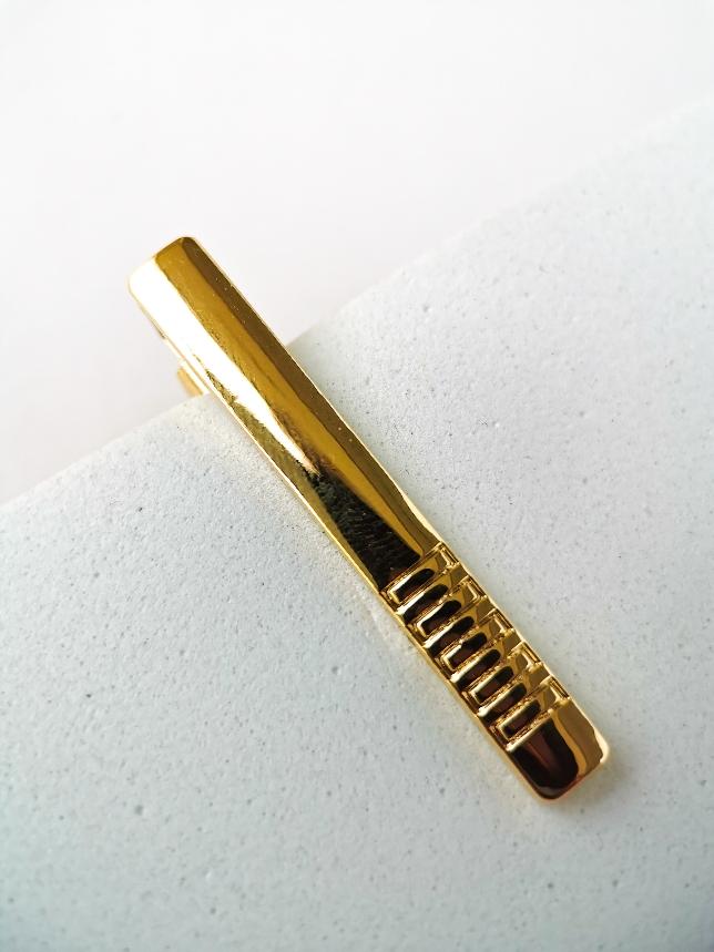 Prendedor De Gravata Dourado