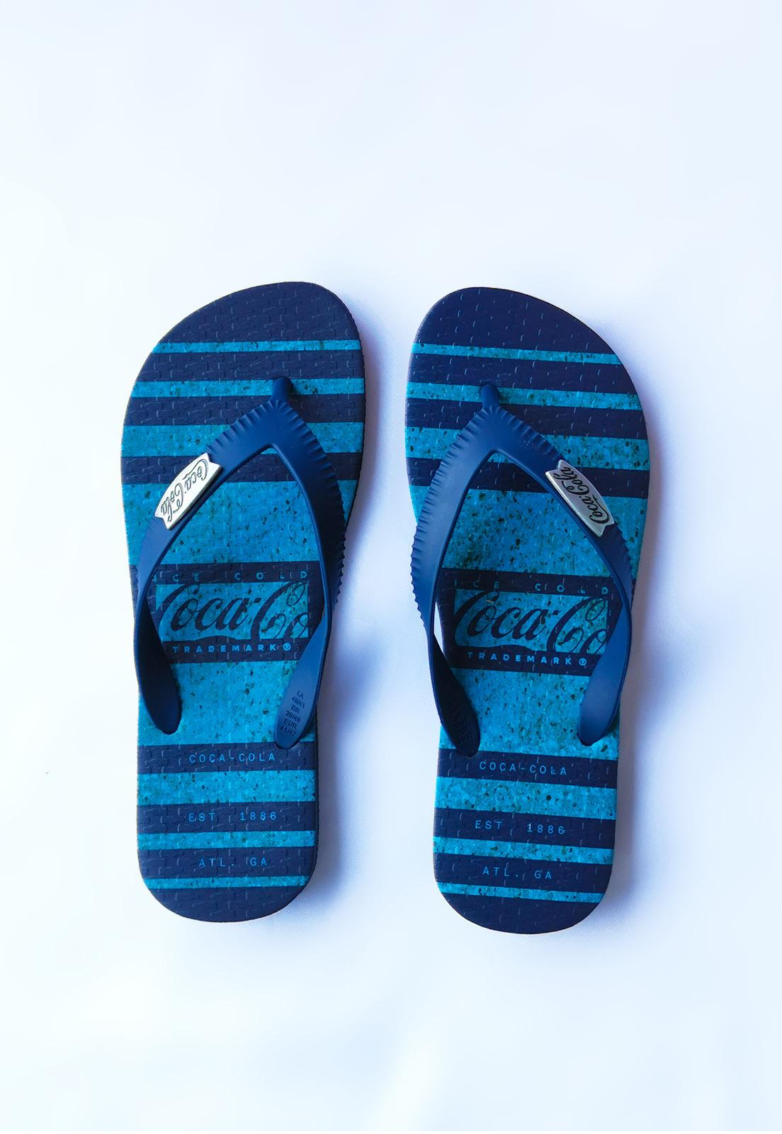 Sandália Coca-Cola Azul Marinho Columbus