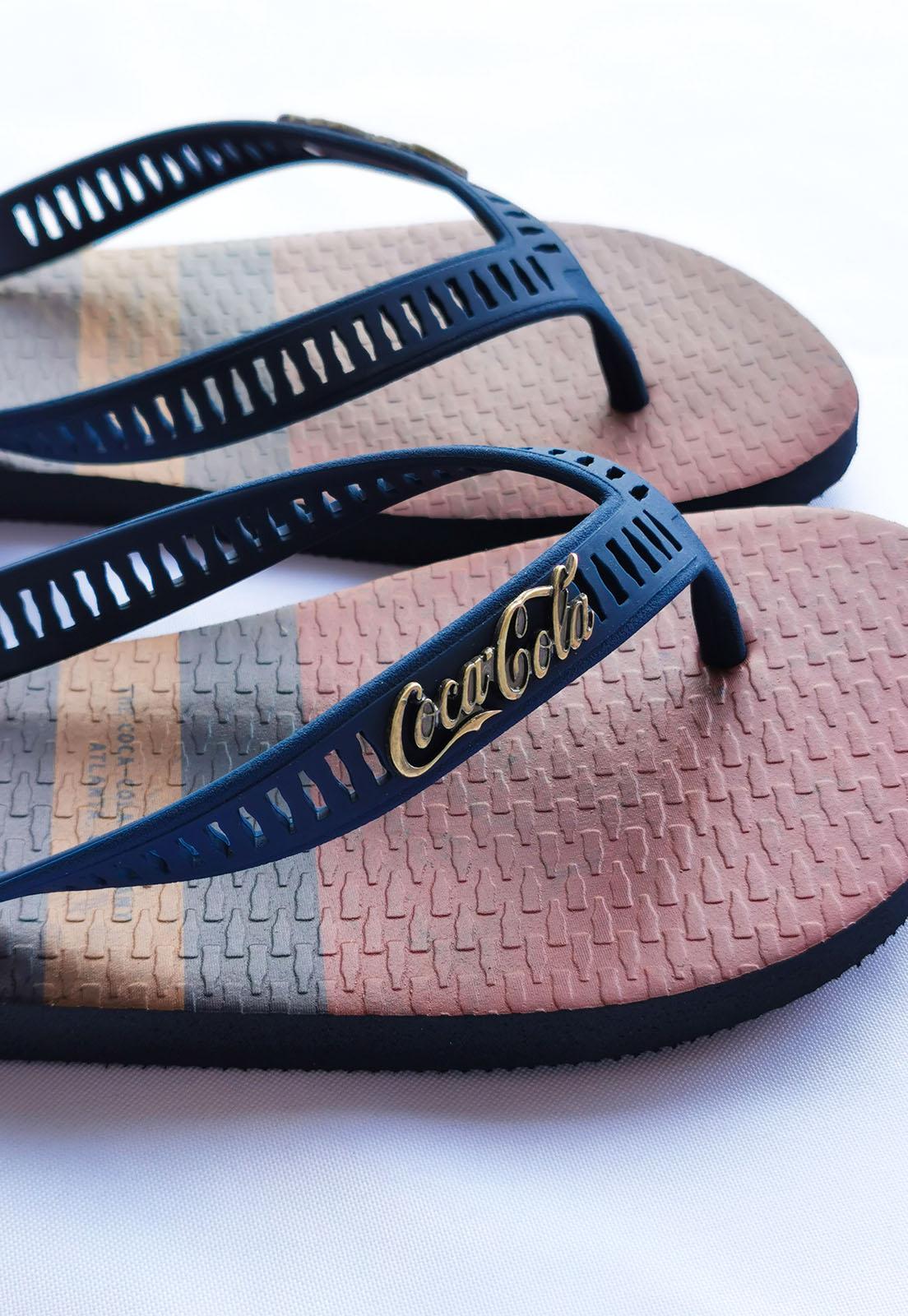 Sandália Coca-Cola Azul Marinho Pause