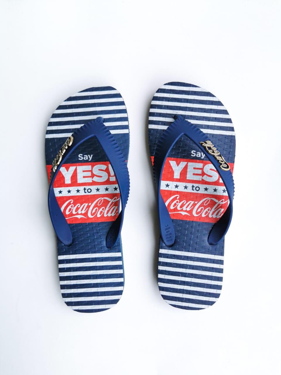 Sandália Coca-Cola Azul Marinho SAY YES