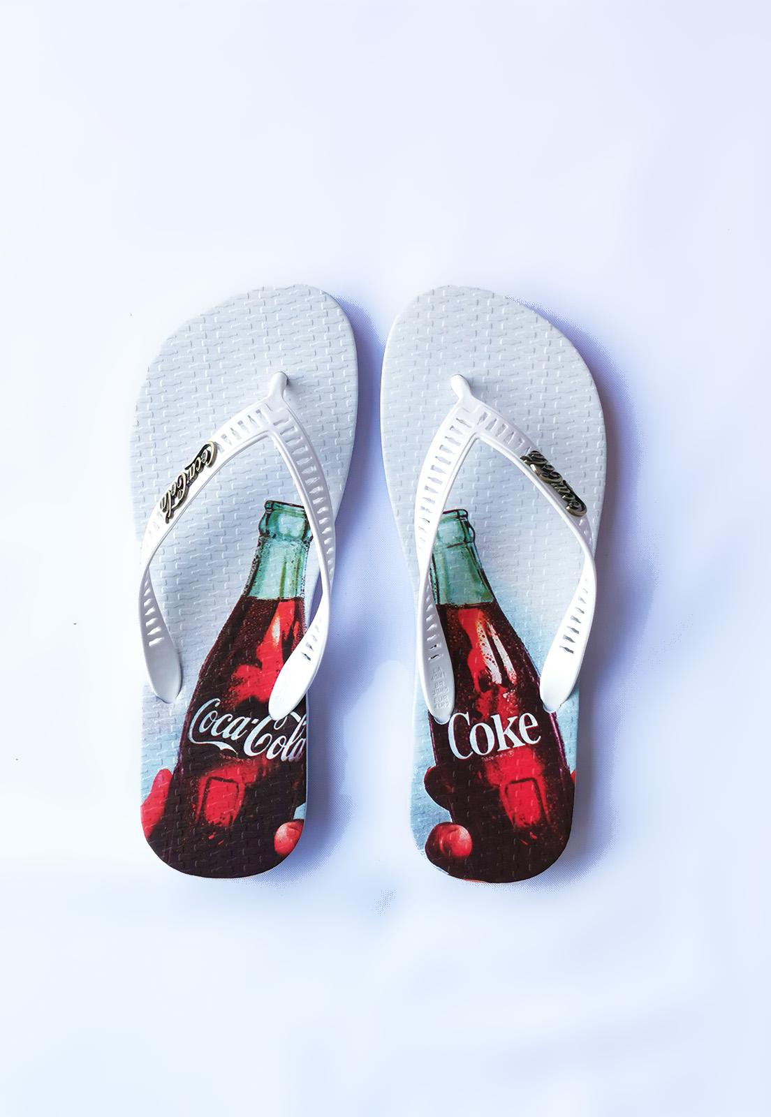 Sandália Coca-Cola Branco Toast