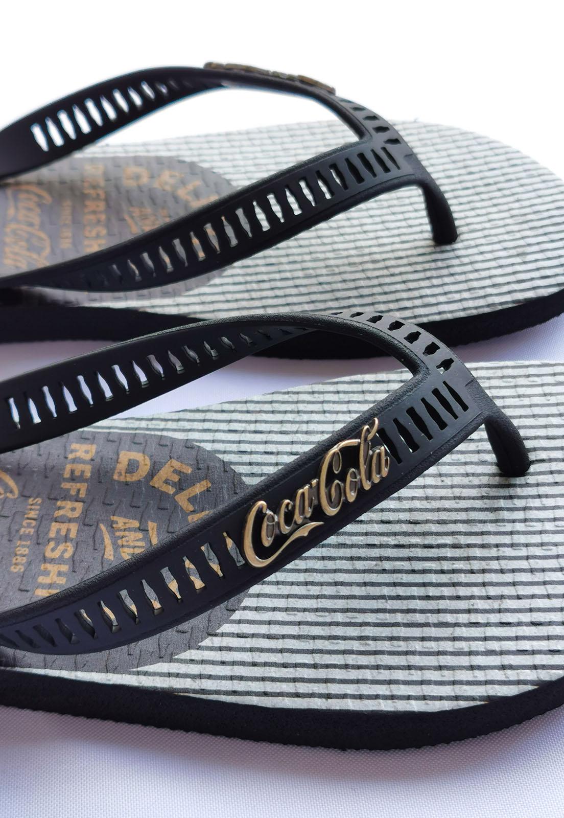 Sandália Coca-Cola Preto Compton