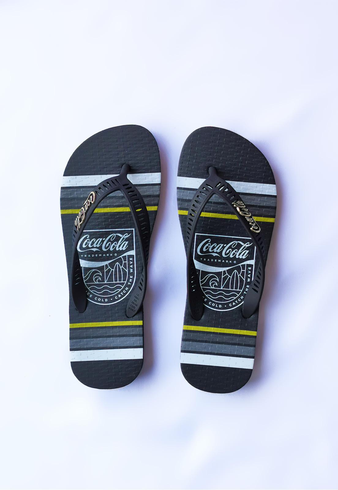 Sandália Coca-Cola Preto Ice Cold