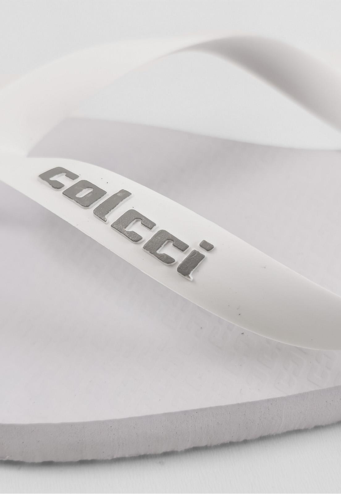 Sandália Colcci Branco Logo