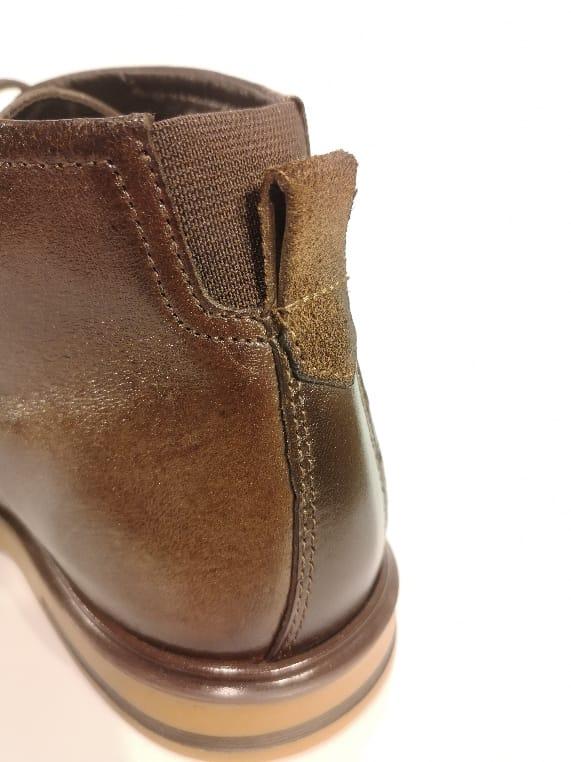 Sapato Rafarillo Marrom Abotinado