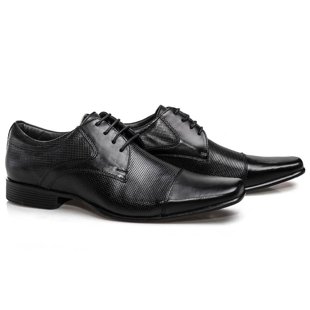 Sapato Rafarillo Preto com Detalhes