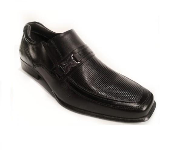 Sapato Rafarillo Preto S/Cadarço com Detalhes