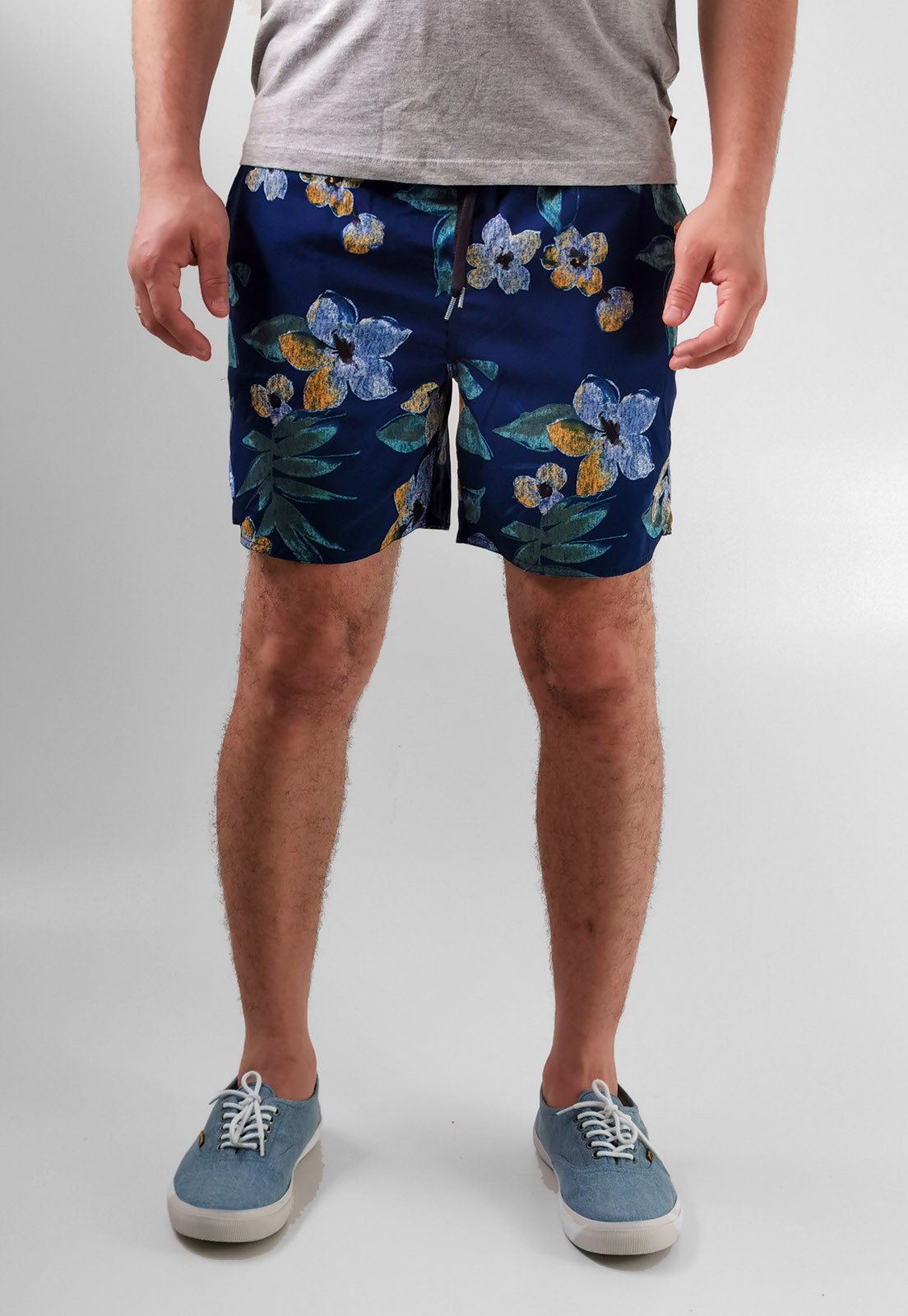 Shorts Bermuda Aéropostale Azul Marinho Flores