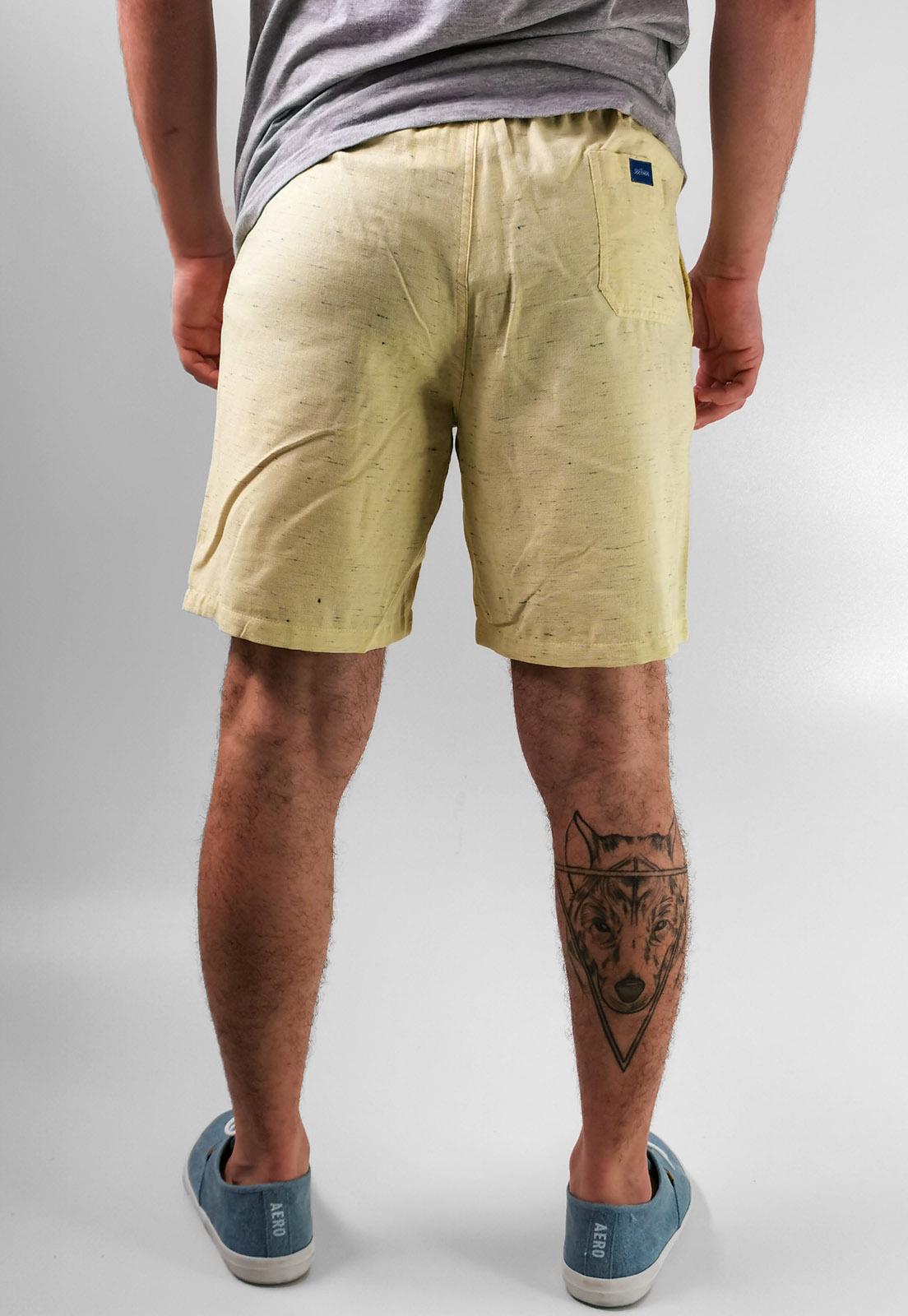 Shorts Bermuda Docthos Amarelo Com Algodão