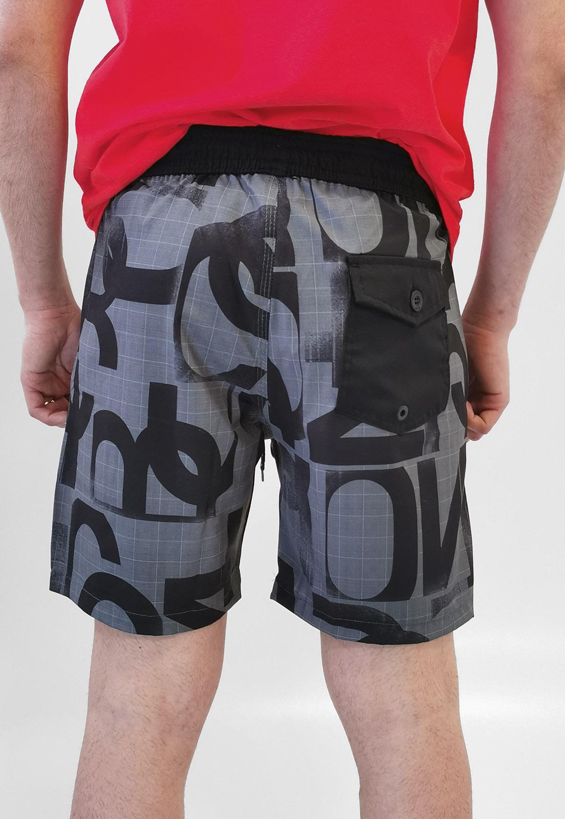 Shorts Bermuda Nicoboco Preto Com Elastano