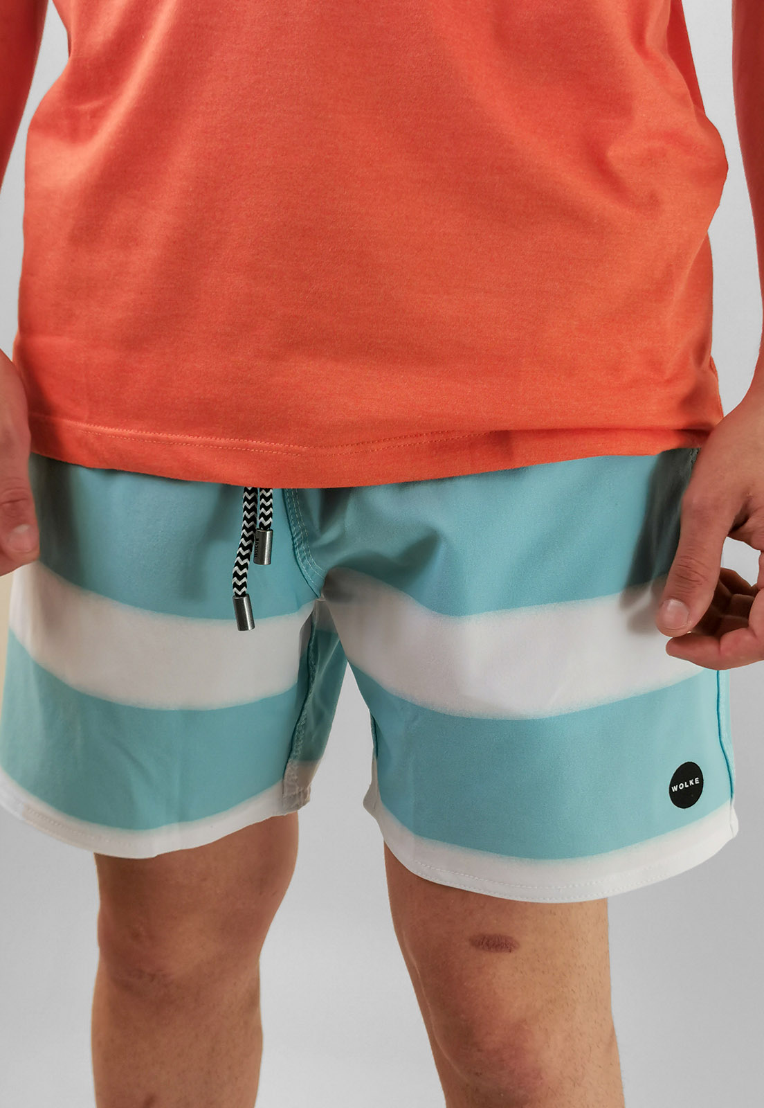 Shorts Bermuda Wolke Azul Listas