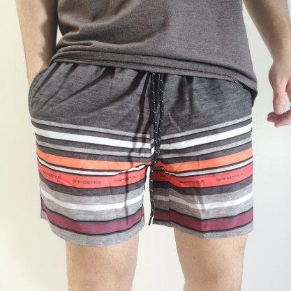 Shorts Gangster Cinza Listrado