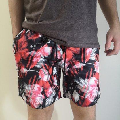 Shorts Gangster Preto Floral
