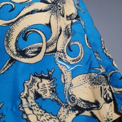 Shorts Oracon Azul/ Amarelo Polvo