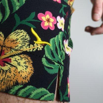 Shorts Oracon Preto/Amarelo Flores