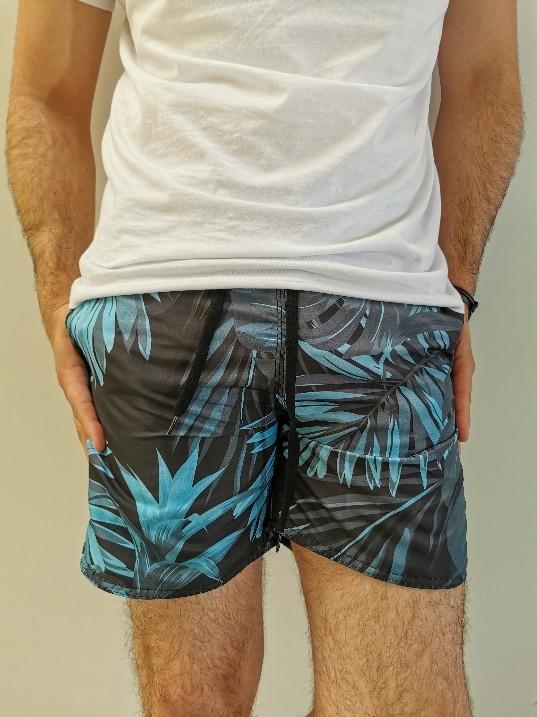 Shorts Pitt Cinza com Folhas